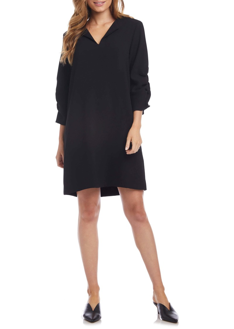 Karen Kane Ruched Sleeve Shift Dress