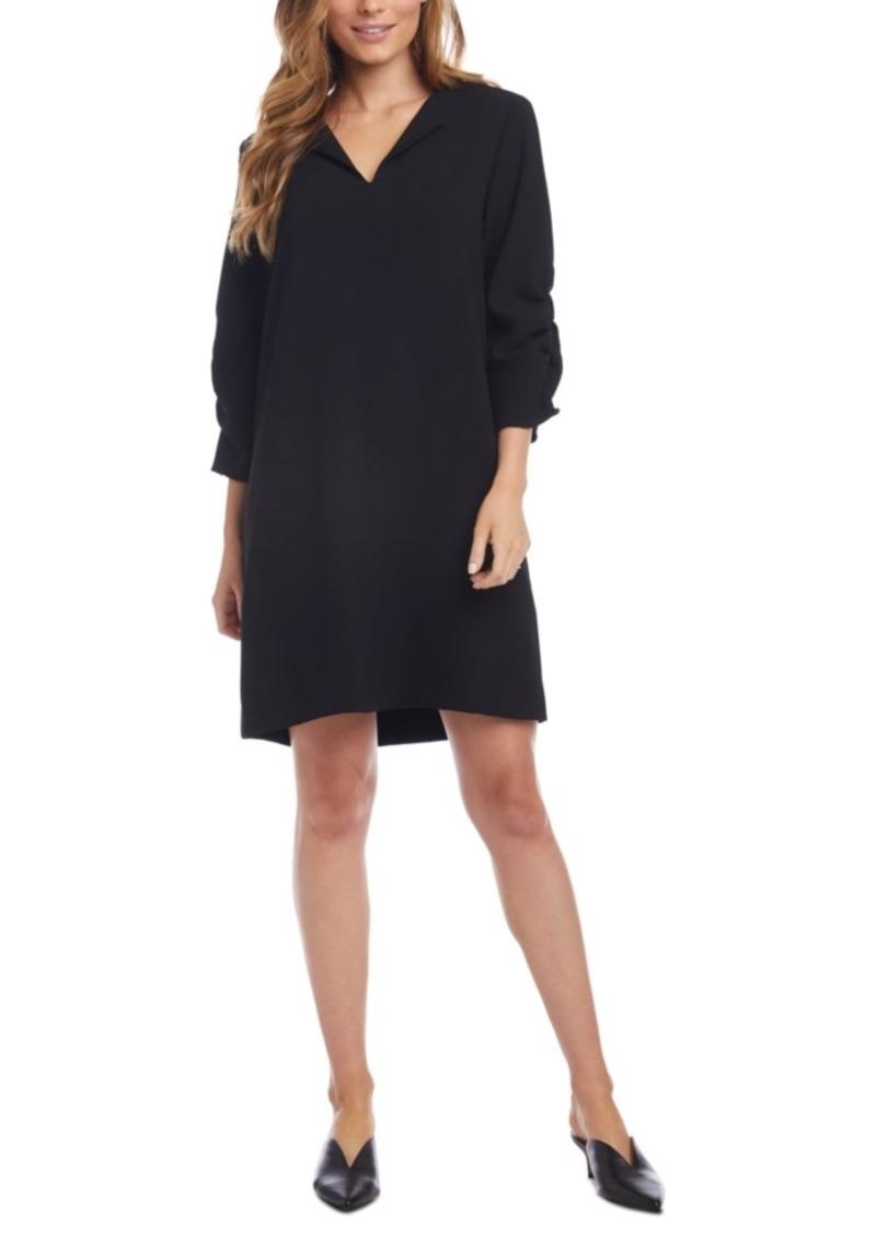 Karen Kane Ruched-Sleeve Shift Dress