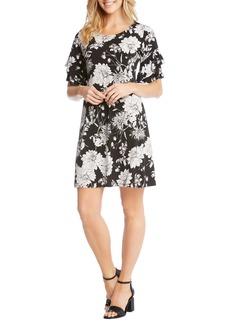 Karen Kane Ruffle Sleeve Floral Dress