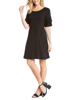 Karen Kane Ruffle Sleeve Jersey Knit Dress