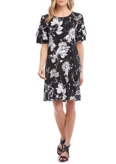 Karen Kane Ruffle Sleeve Shift Dress