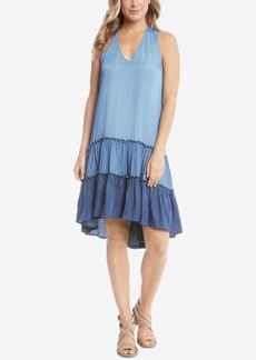 Karen Kane Ruffled Chambray Shift Dress, Created for Macy's