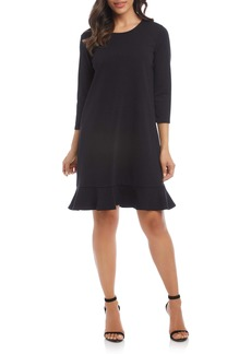 Karen Kane Sabrina Flounced Shift Dress