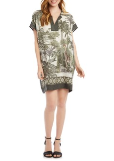 Karen Kane Safari Print Shift Dress