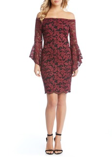 Karen Kane Samantha Off the Shoulder Lace Dress