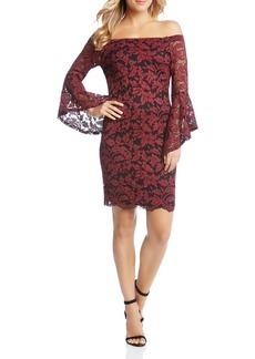 Karen Kane Samantha Off-the-Shoulder Lace Dress