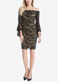 Karen Kane Samantha Off-The-Shoulder Lace Sheath Dress