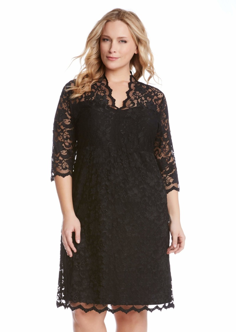 Karen Kane Scallop Lace Dress