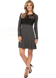 Karen Kane Scallop Lace Overlay Dress