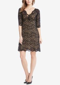 Karen Kane Scalloped Lace Dress
