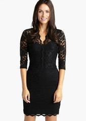 Karen Kane Scalloped Lace Sheath Dress (Regular & Petite)