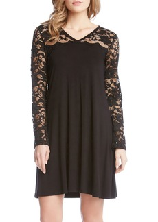 Karen Kane Scalloped Lace Yoke Shift Dress