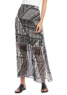 Karen Kane Scarf Print Pleated Skirt