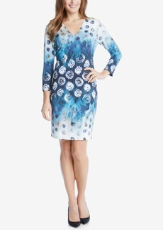 Karen Kane Seascape Printed Sheath Dress