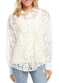 Karen Kane Semi-Sheer Lace Shirt