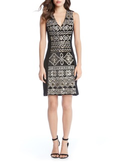 Karen Kane Sequin Sheath Dress