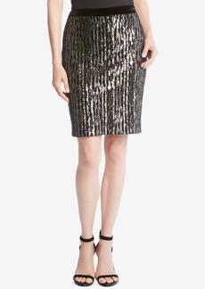 Karen Kane Sequined Pencil Skirt