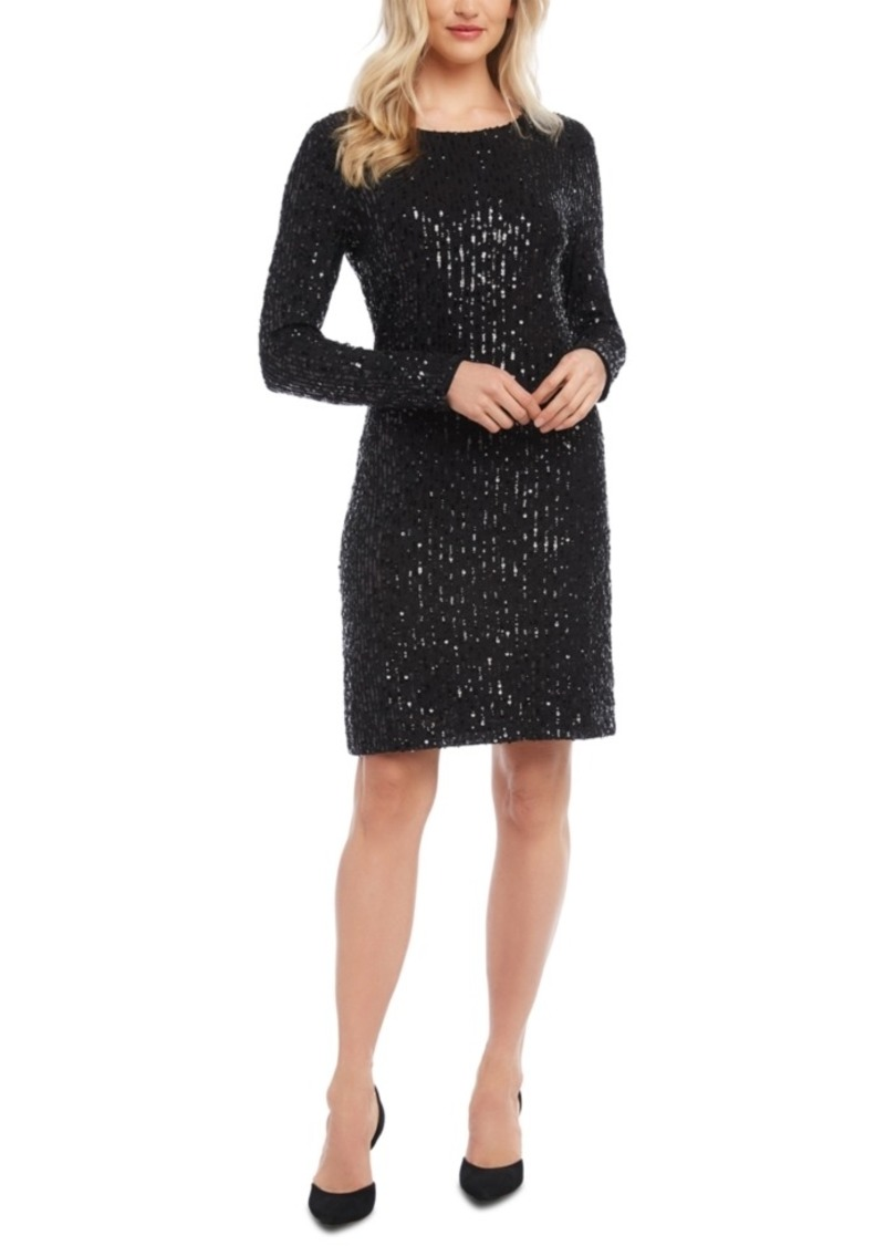 Karen Kane Sequined Sheath Dress