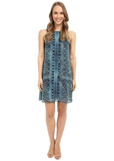 Karen Kane Sheer Diamond Tile Dress