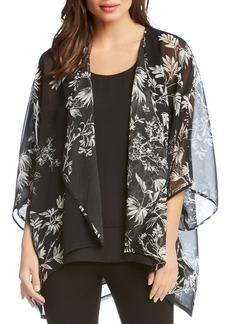 Karen Kane Sheer Floral-Print Kimono