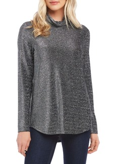 Karen Kane Shimmer Long Sleeve Turtleneck