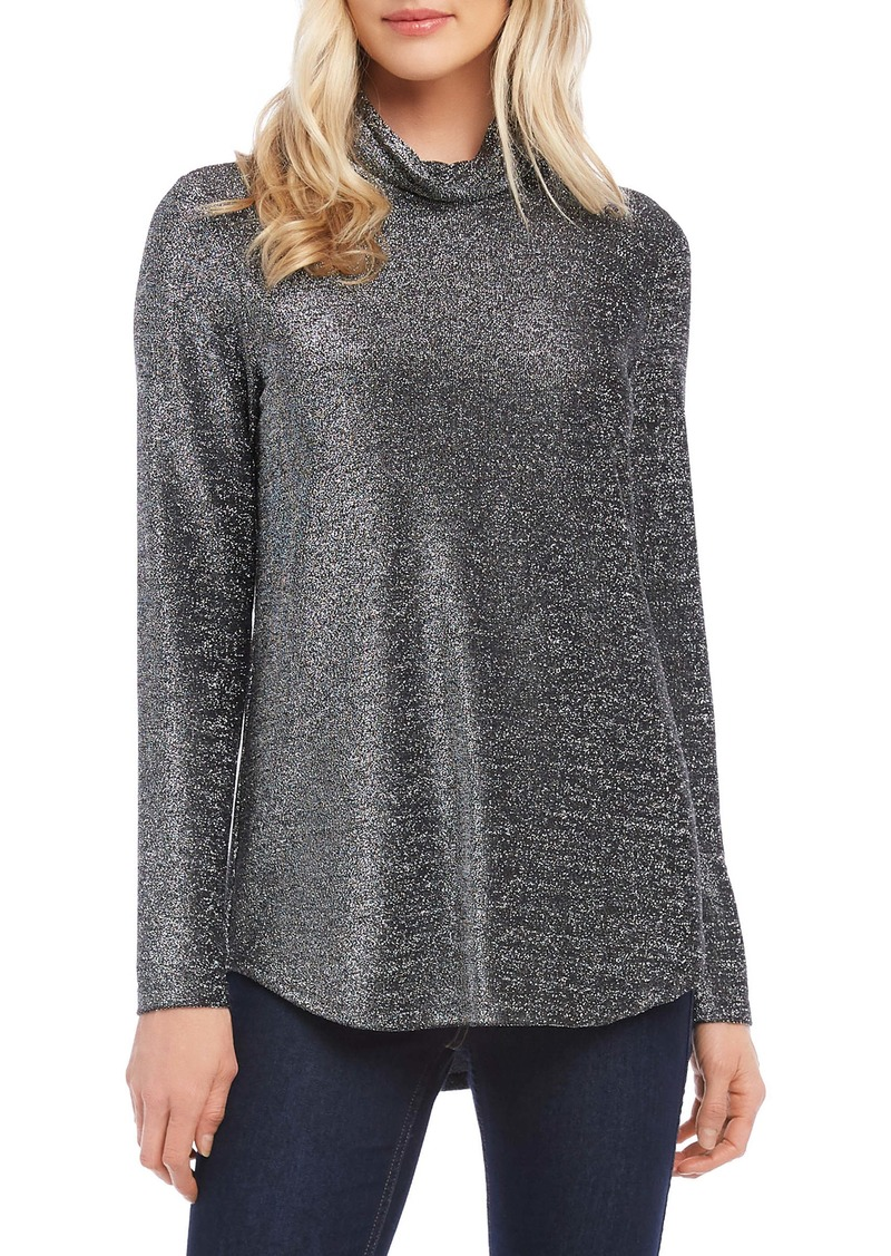 Karen Kane Shimmer Long Sleeve Turtleneck