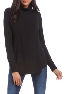 Karen Kane Shirred Sleeve Turtleneck Top