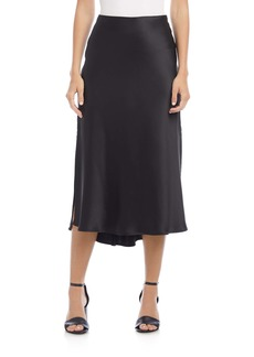 Karen Kane Side Slit Bias Cut Midi Skirt
