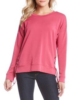 Karen Kane Side-Tie Knit Sweatshirt