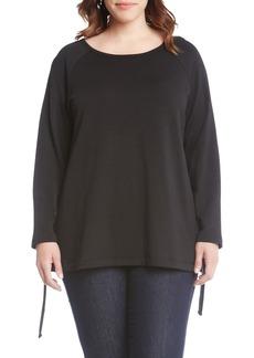 Karen Kane Side Tie Sweater (Plus Size)