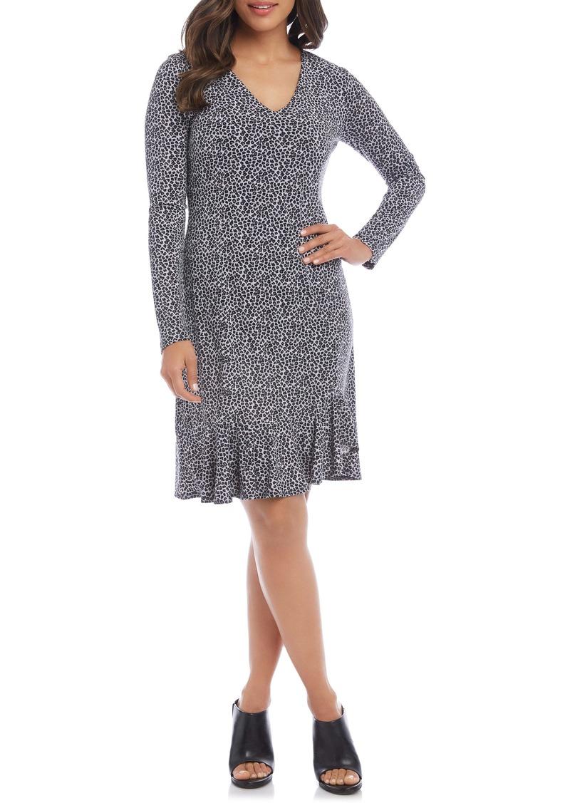 Karen Kane Sienna Leopard Print Long Sleeve Dress
