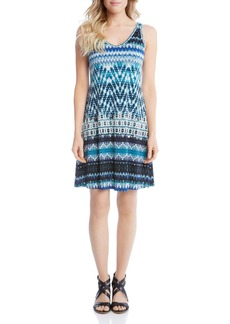 Karen Kane Sleeveless Batik Stripe Swing Dress