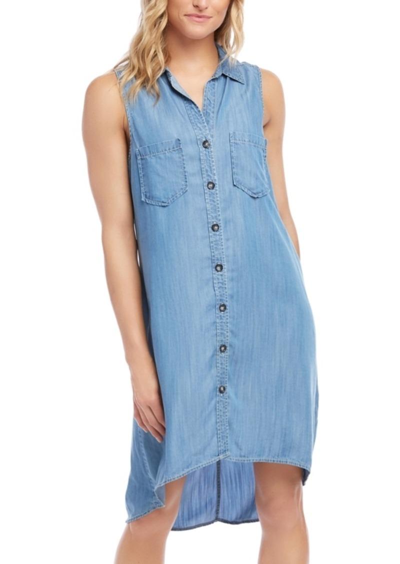 Karen Kane Sleeveless Chambray Shirt Dress
