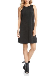 Karen Kane Sleeveless Faux-Suede Dress