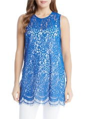 KAREN KANE Sleeveless Floral Lace Tunic