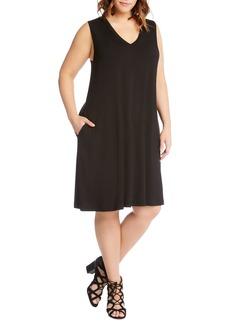 Karen Kane Sleeveless Pocket Jersey Dress (Plus Size)