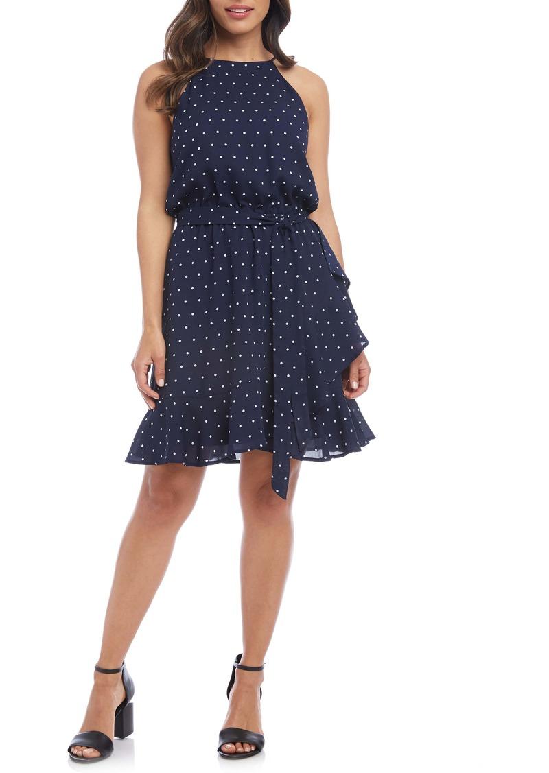 Karen Kane Sleeveless Ruffle Wrap Dress