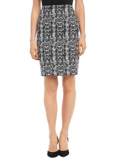 Karen Kane Snake Jacquard Pencil Skirt