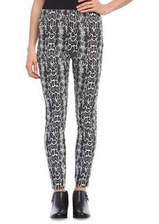 Karen Kane Snake Print Jacquard Piper Pants