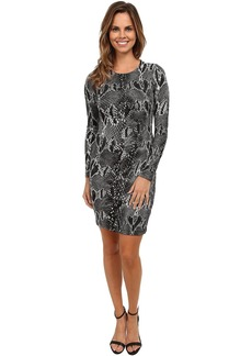 Karen Kane Snake Print Sheath Dress