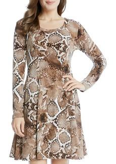 Karen Kane Snake Print Swing Dress