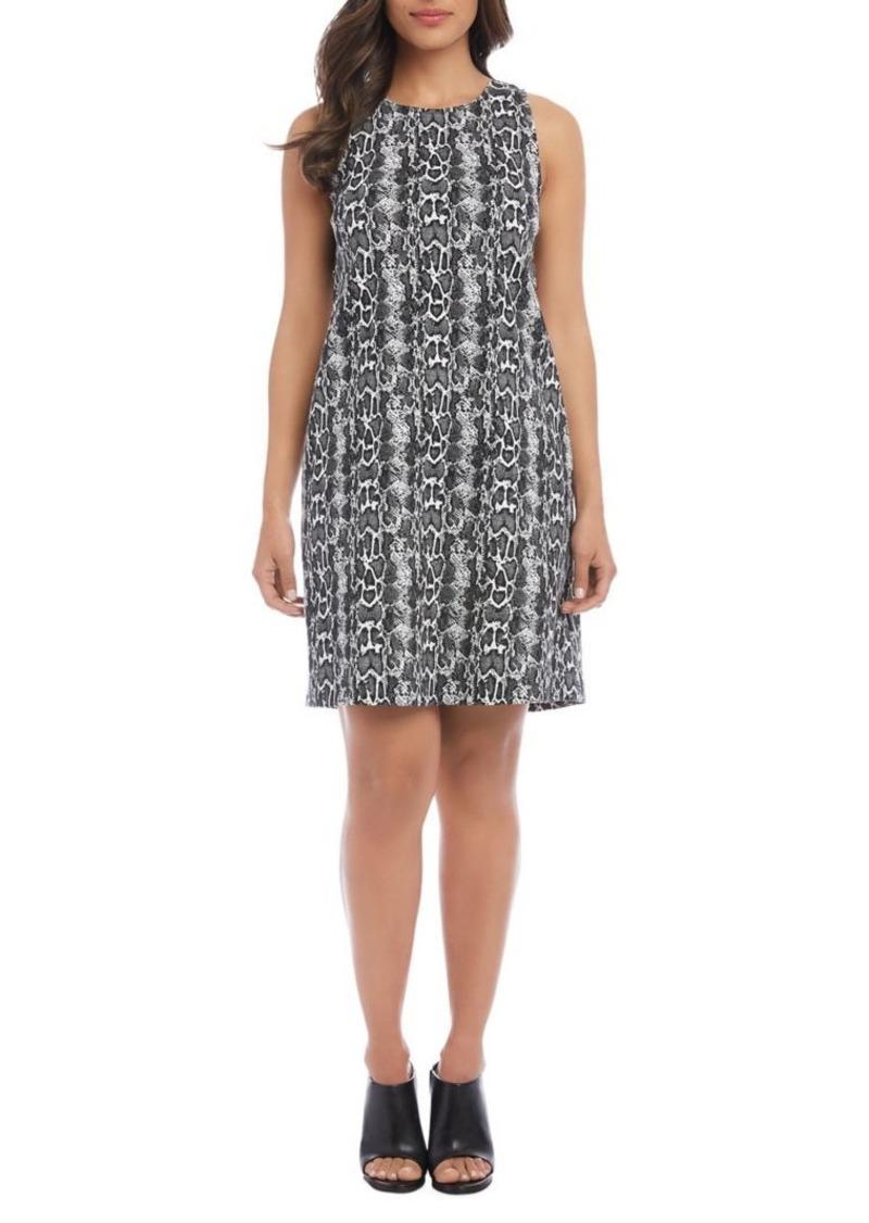 Karen Kane Snakeskin Printed A-Line Dress