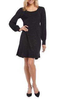 Karen Kane Sparkle Knit A-Line Dress