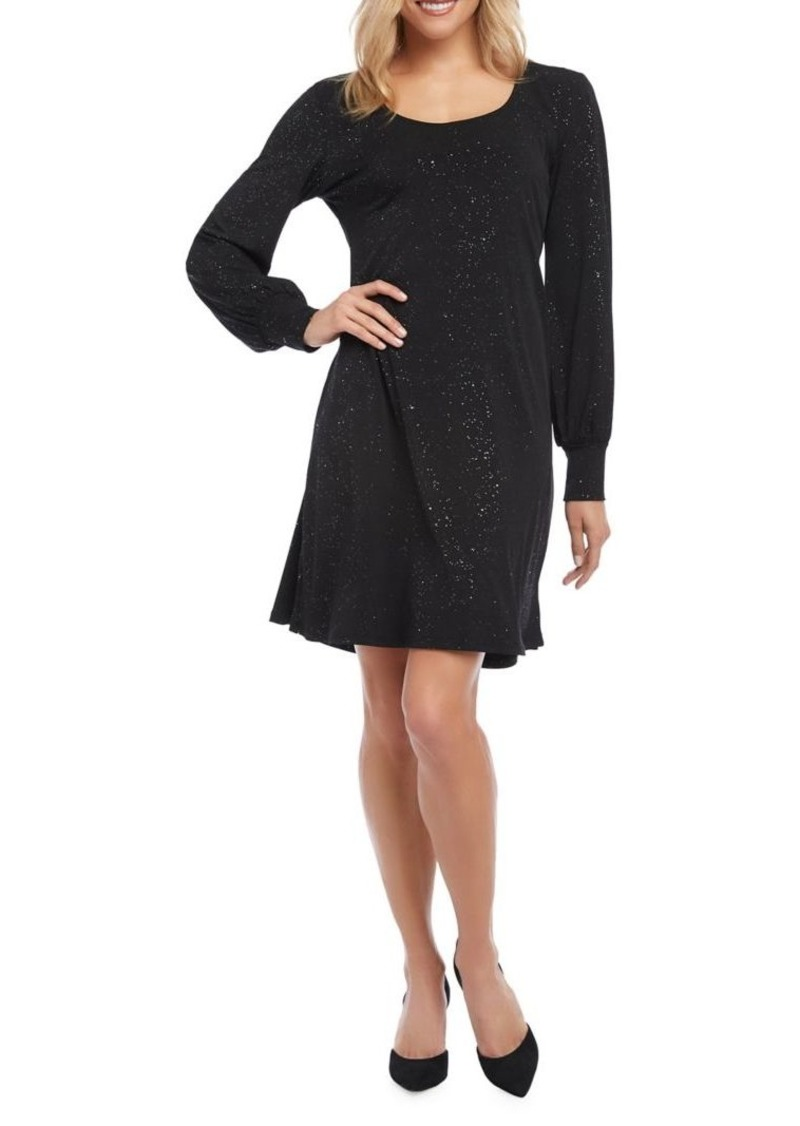 Karen Kane Sparkle Knit A-Line Dress