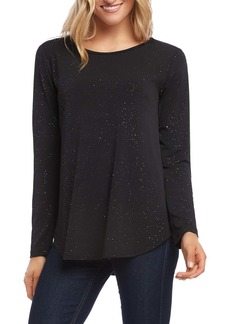 Karen Kane Sparkle Knit Shirttail Top