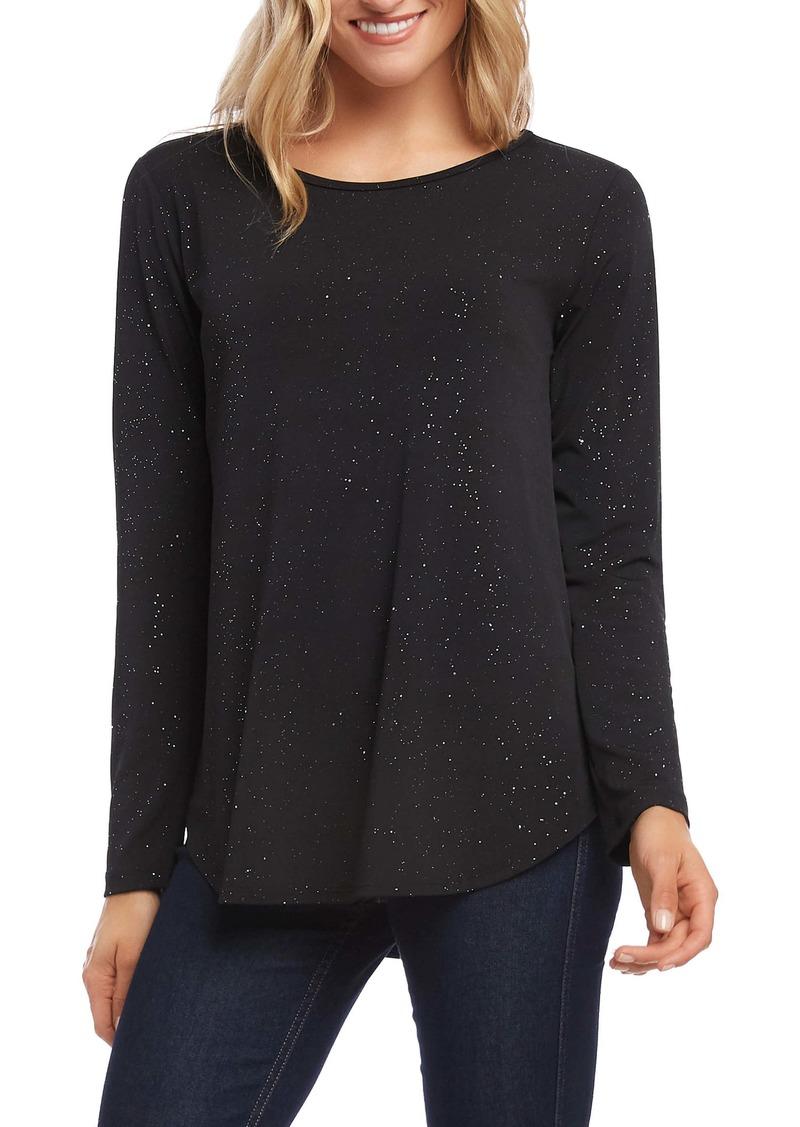 Karen Kane Sparkle Knit Shirttail Top