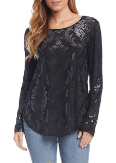 Karen Kane Sparkle Print Shirttail Top