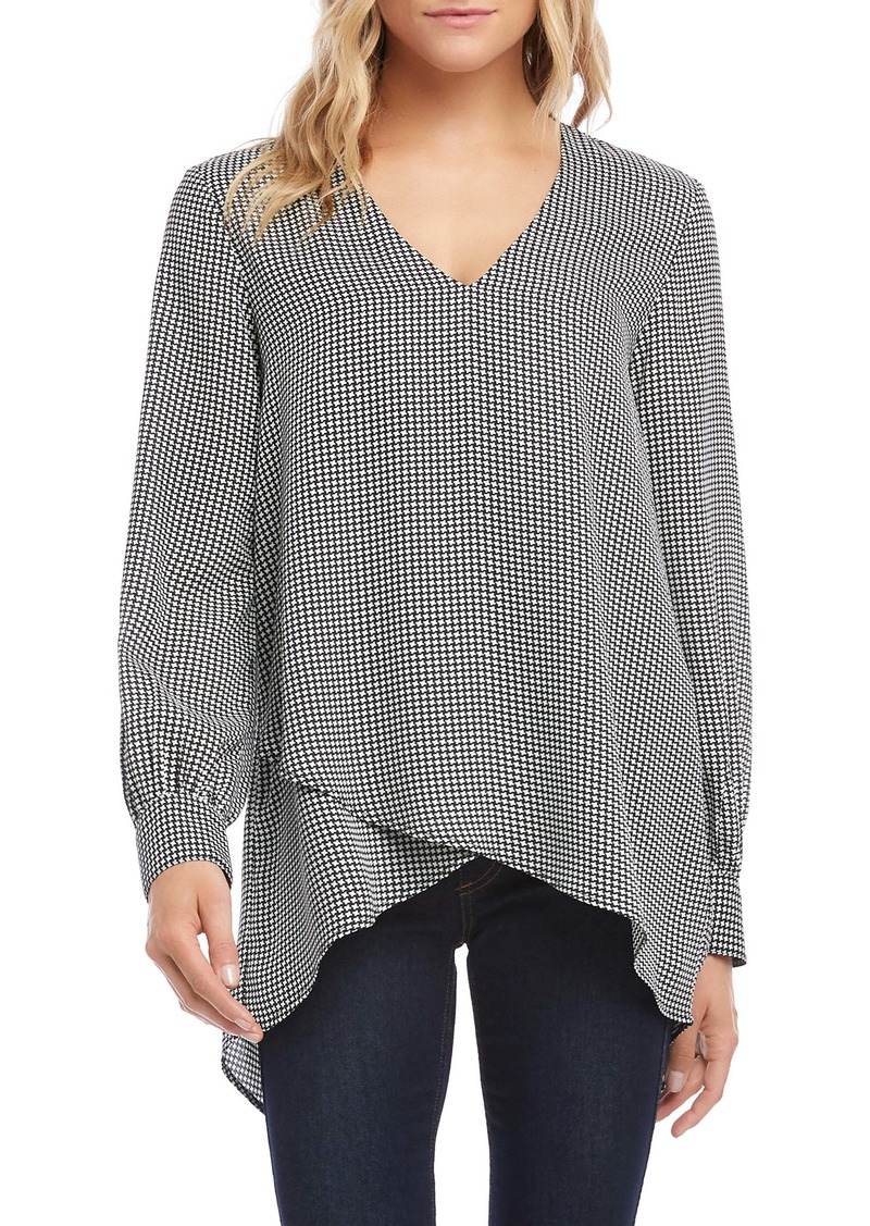 Karen Kane Split Back Crossover Front Top