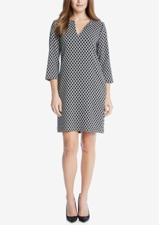 Karen Kane Split-Neck Shift Dress