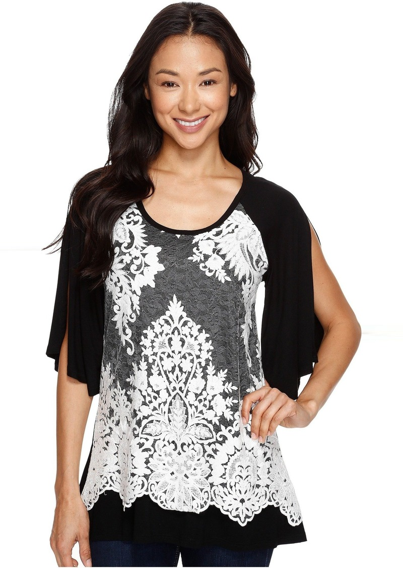 e5df72dbfb165 On Sale today! Karen Kane Split Sleeve Lace Overlay Top - Shop It To Me